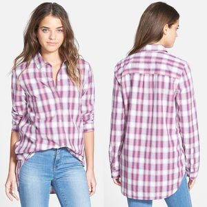Madewell Ex Boyfriend Plaid Button Down Shirt